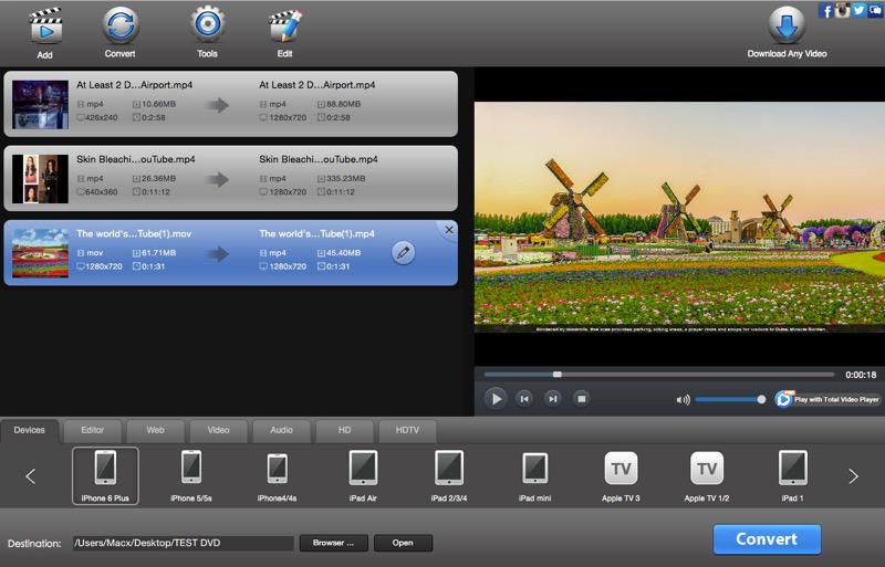 Official total video converter for mac convert and edit video on mac convert video on mac ccuart Choice Image