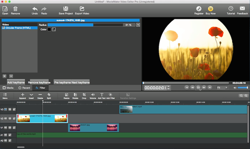 create animated video with keyframe