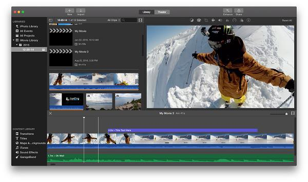 movie editing software Mac
