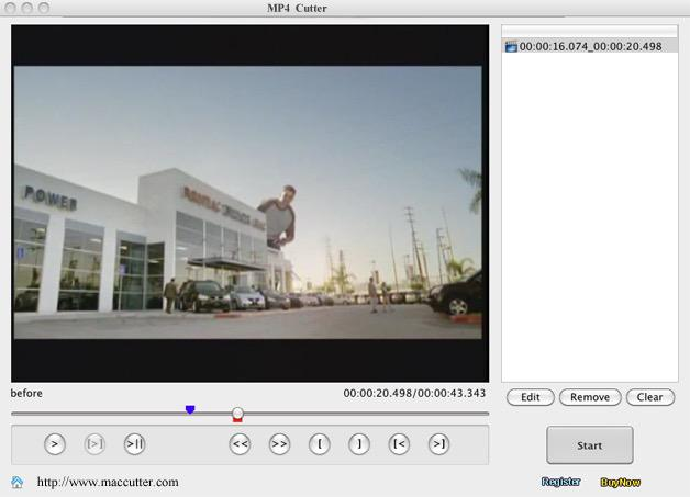 Free MP4 Video Cutter for Mac