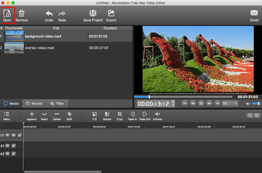 movie video editor for Mac